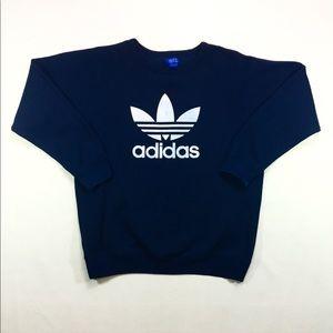 90s Vintage ADIDAS Trefoil Big Logo Sweatshirt XL